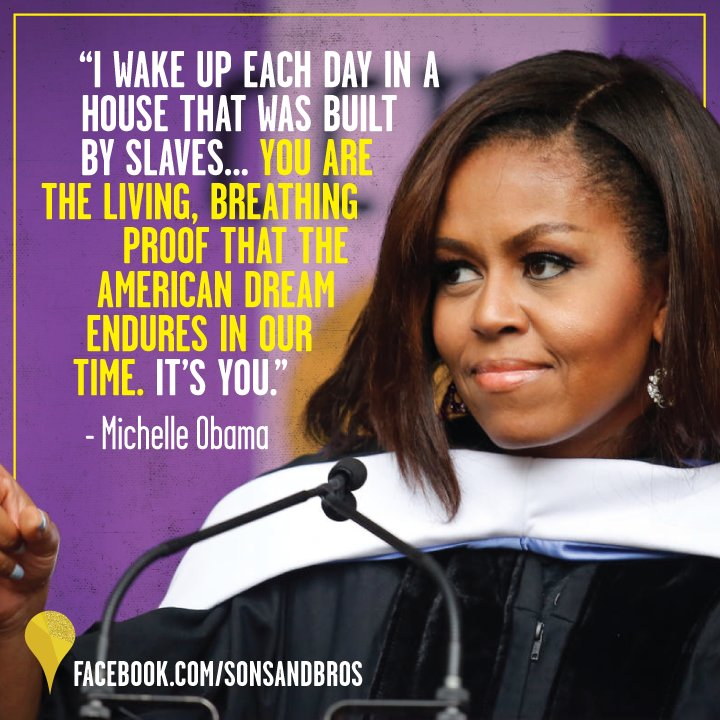 RT @sonsandbros: Our legacy is also that of our ancestors. @FLOTUS reminds us at @CityCollegeNY #graduation. #Classof2016 https://t.co/NTkW…