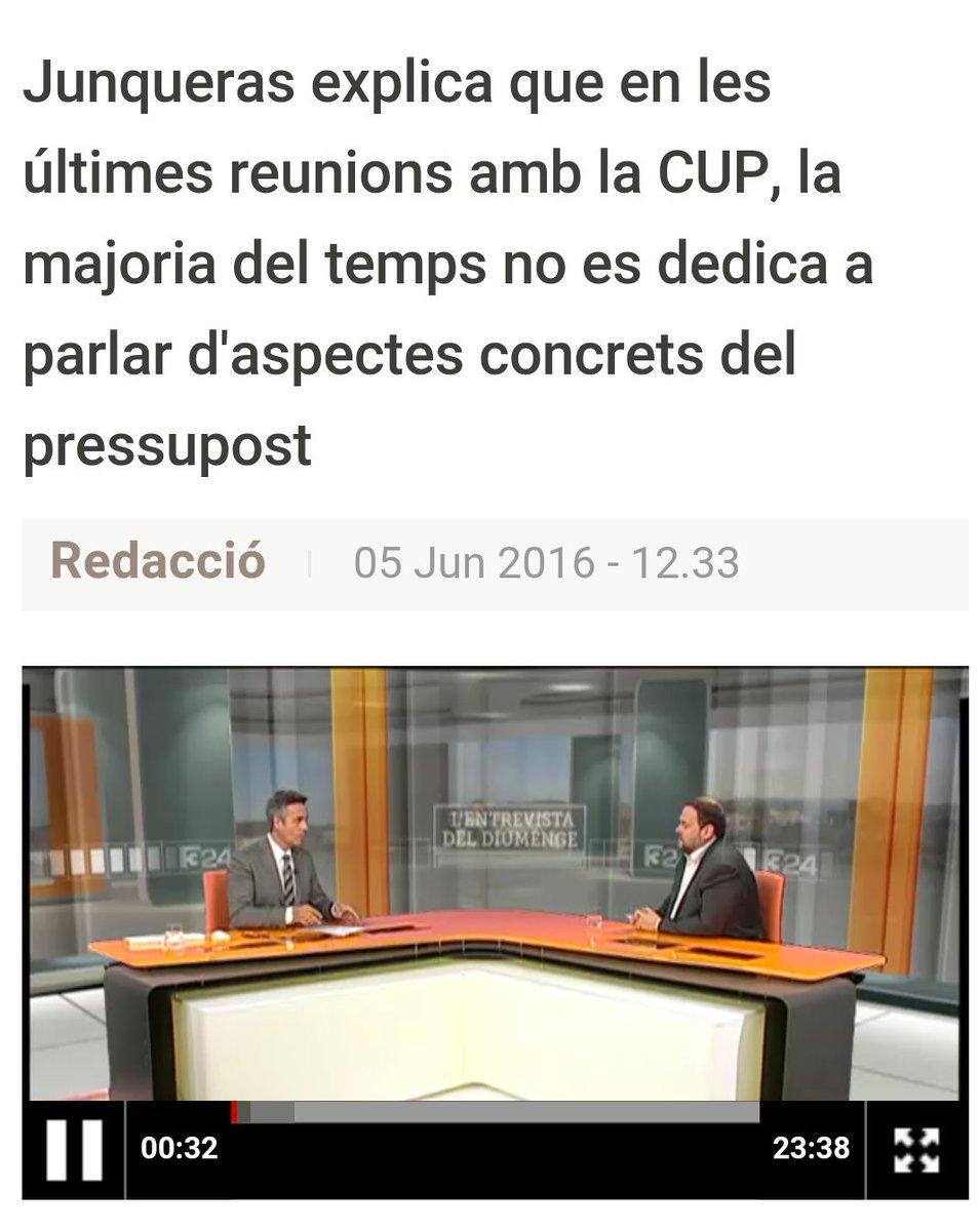 Junqueras explica que en les últimes reunions amb la CUP, la majoria del temps no es dedica a parlar d'aspectes concrets del pressupost