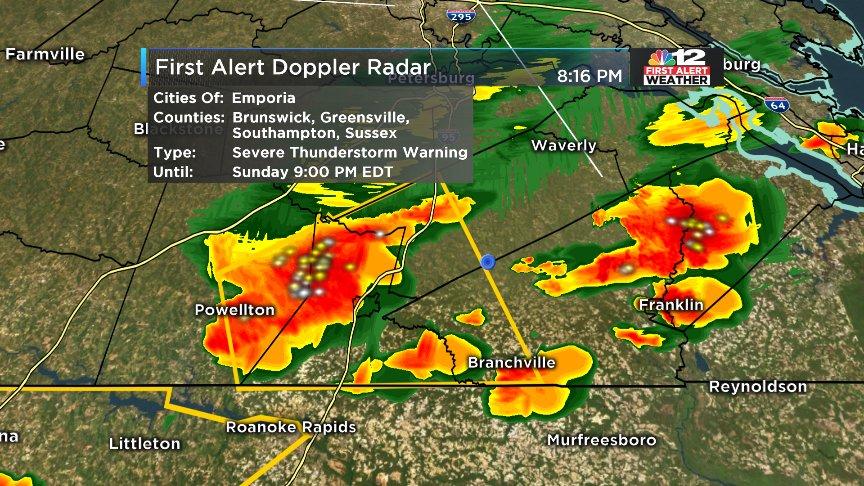 Virginia Damaging : severe thunderstorm warnings southern