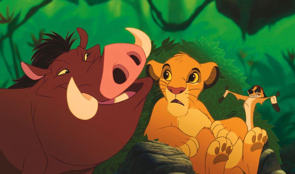気楽にいこう♪/『ライオン・キング』シーン>仲良しのティモン