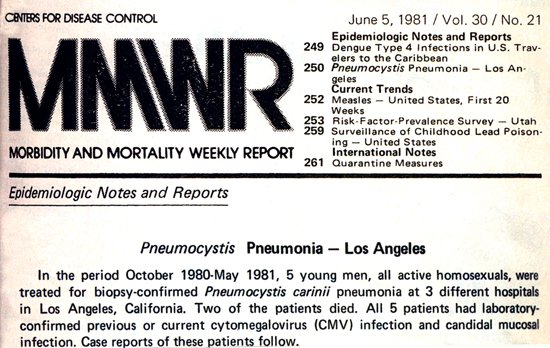 35 years ago today, the CDC announced the first cases of what would come to be known as AIDS: https://t.co/Oe89F0DxWF
