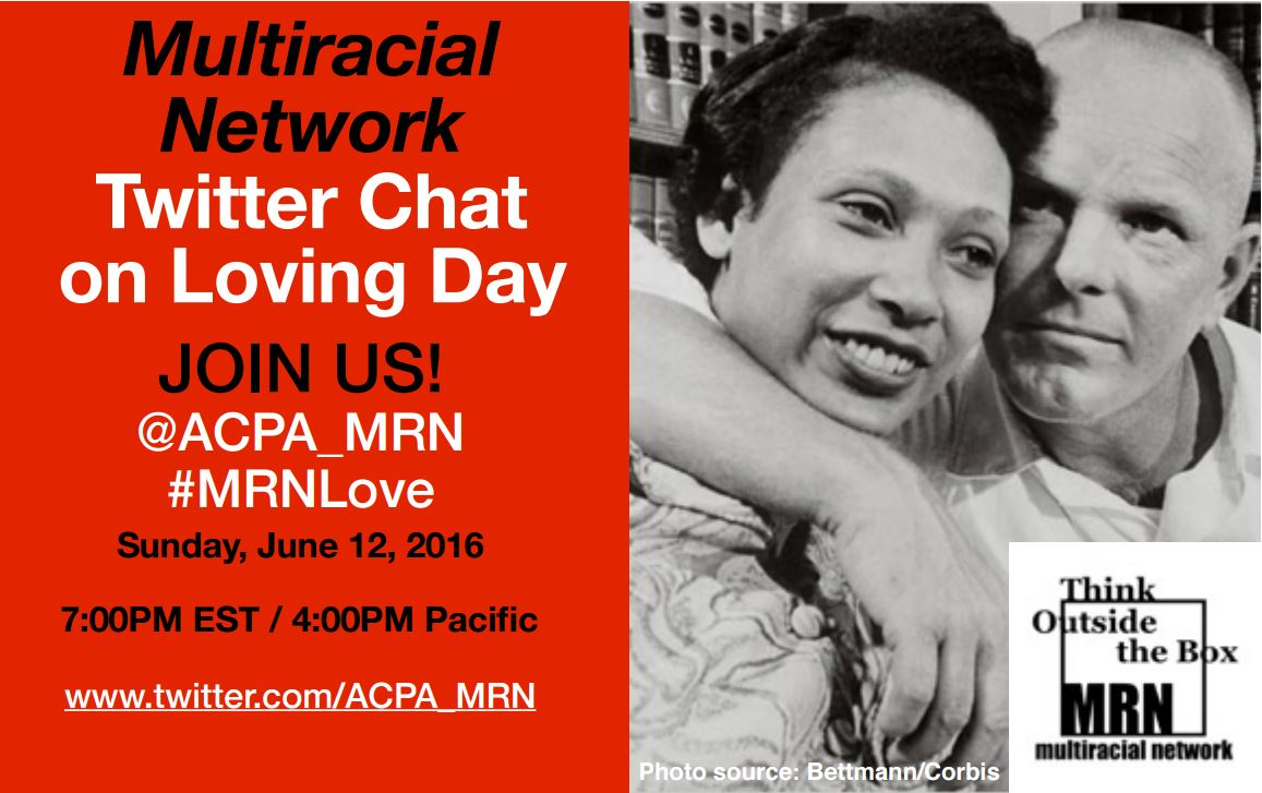 We're hosting a Twitter Chat for #LovingDay. Sunday, 6/12 7pm EST. Come chat with us! #MRNLove https://t.co/tIvTSRnm0b