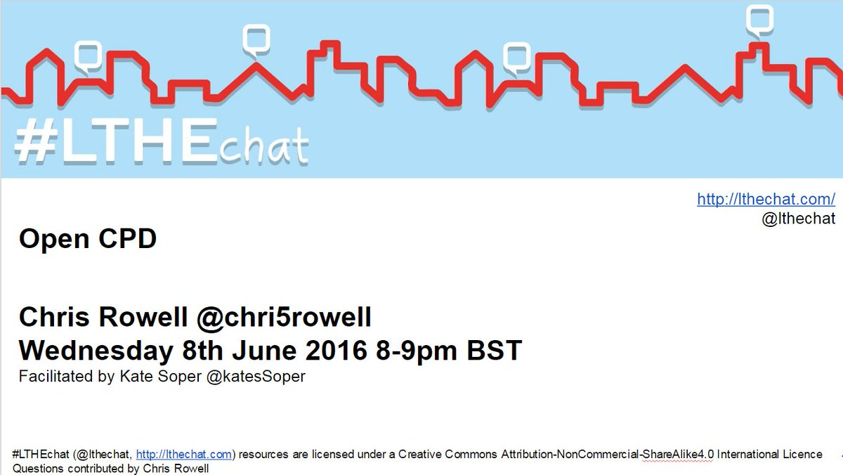 Join us for #lthechat 57 where we'll be discussing Open CPD with @Chri5rowell https://t.co/BNdN8ACohb https://t.co/KJ9JmAOPYp