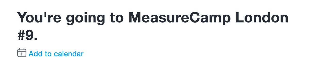 Got myself a #measurecamp ticket in the first batch! Yay https://t.co/fu8pxFdEcy