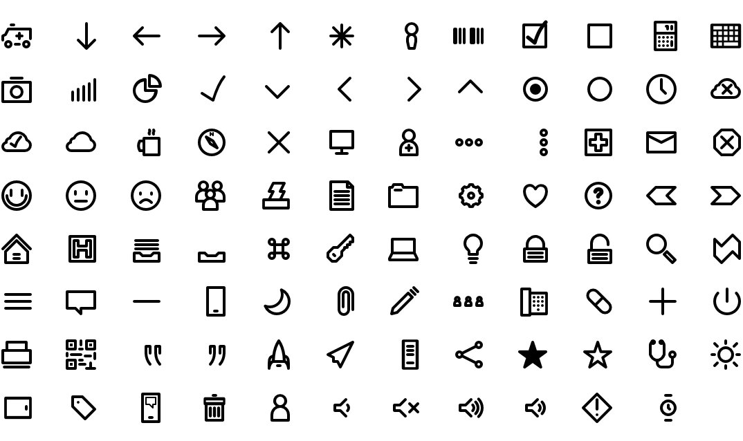I made an icon font a while back & finally open sourced it. Enjoy! https://t.co/NAwaalxMj9 https://t.co/EB6FxWeZPn