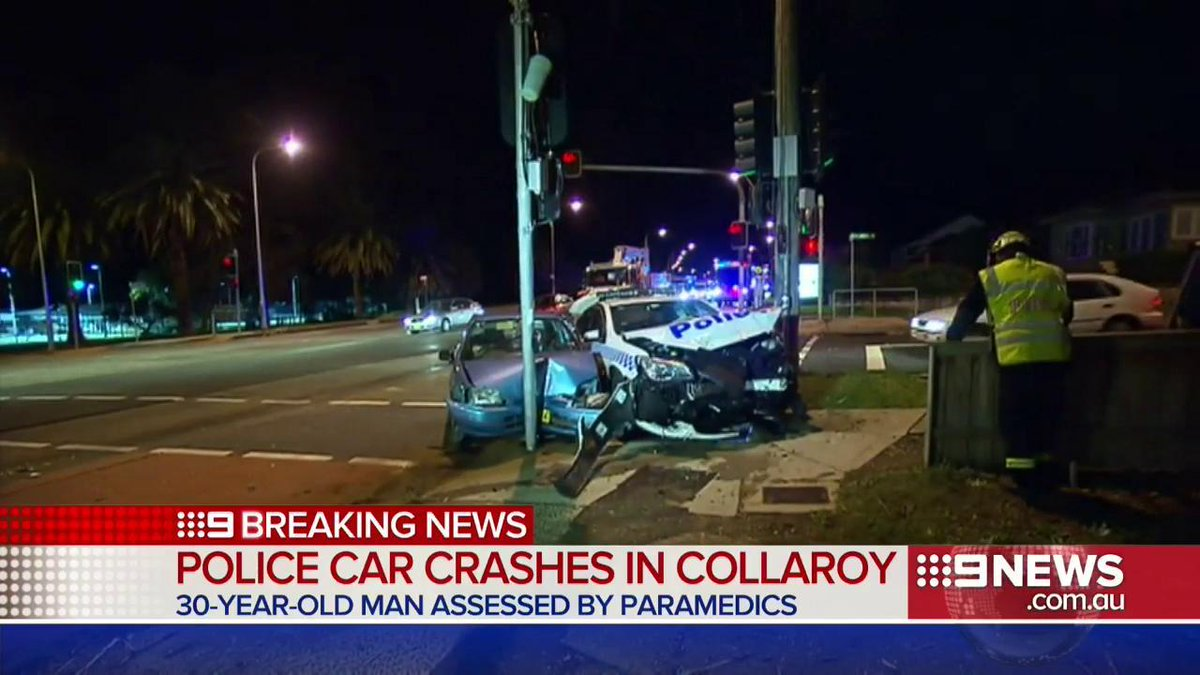 breaking: police vehicle involved in car accident in collaroy. 30