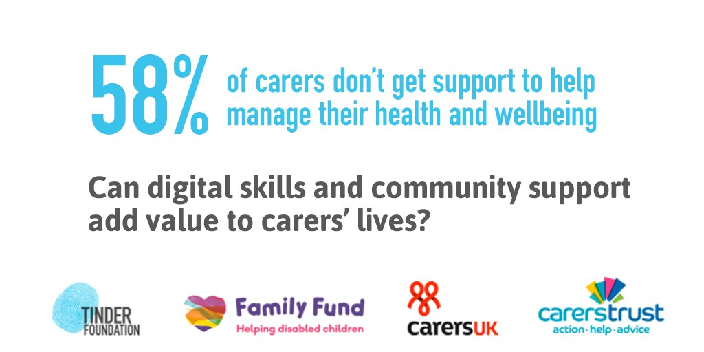 Caring affects people's wellbeing... but digital and community support can help. #carersweek https://t.co/7KDnRbmWU9 https://t.co/06d1cqx8bE