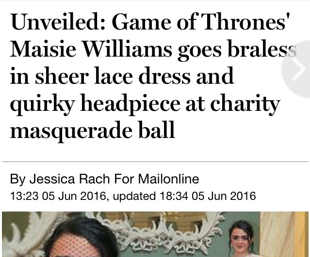 Alternative Game of Thrones actor, Maisie Williams, helps raise thousands at a Summer Masquerade Ball for @NSPCC