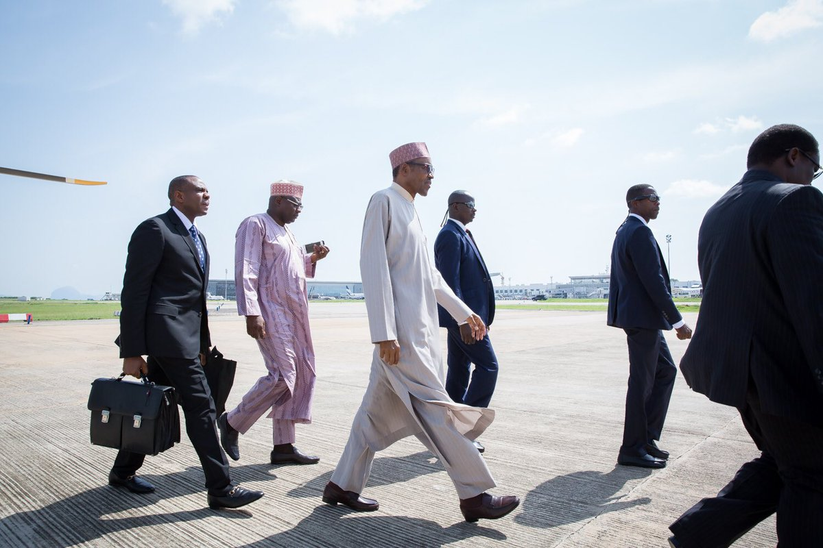 President Buhari leaving for London