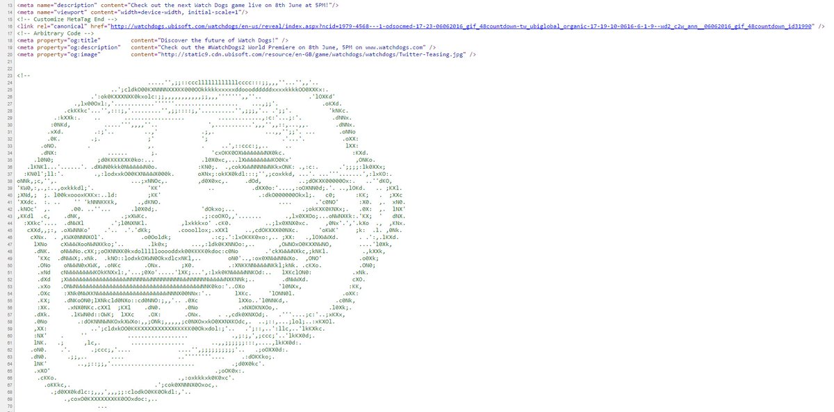 This is in the source code of the Watch Dogs 2 website https://t.co/mMKKPpflwj