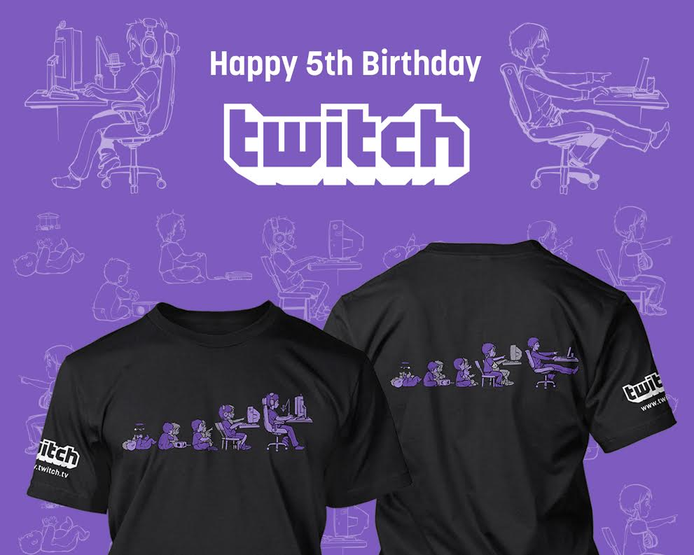 Twitch On Twitter Celebrate Twitchs 5th Birthday With This