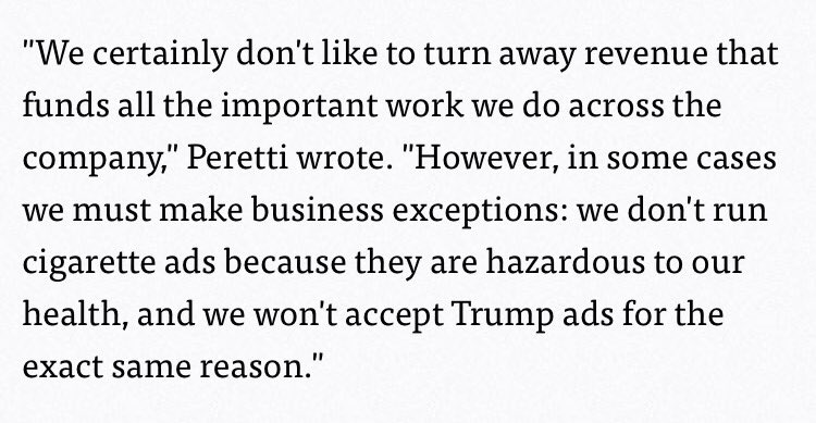 Buzzfeed CEO Jonah Peretti on why he won't take Republican Party ads https://t.co/IJkVNPRNYw