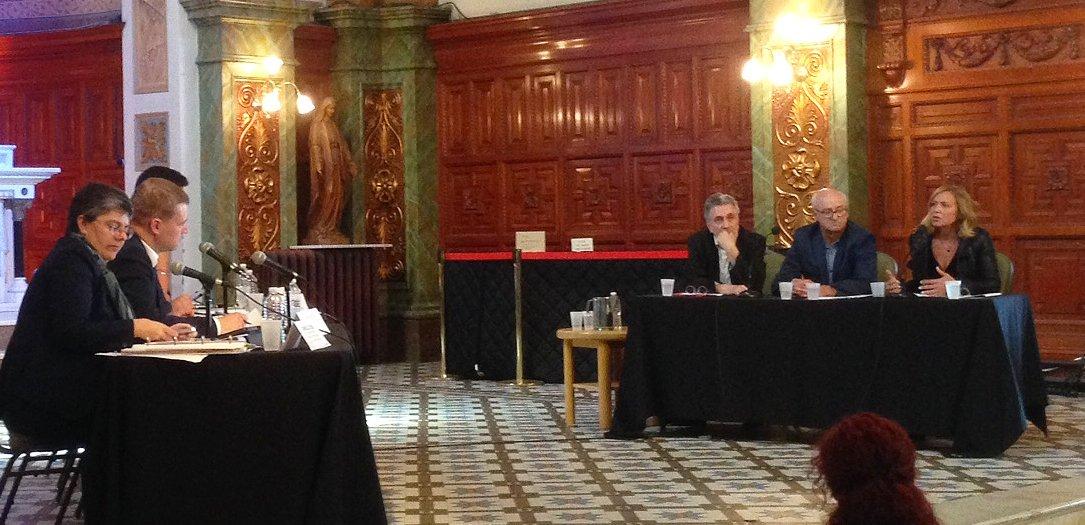Sophie Prégent, Louis-Georges Girard et Jack Robitaille lors des consultations publiques #PolculturelleQc