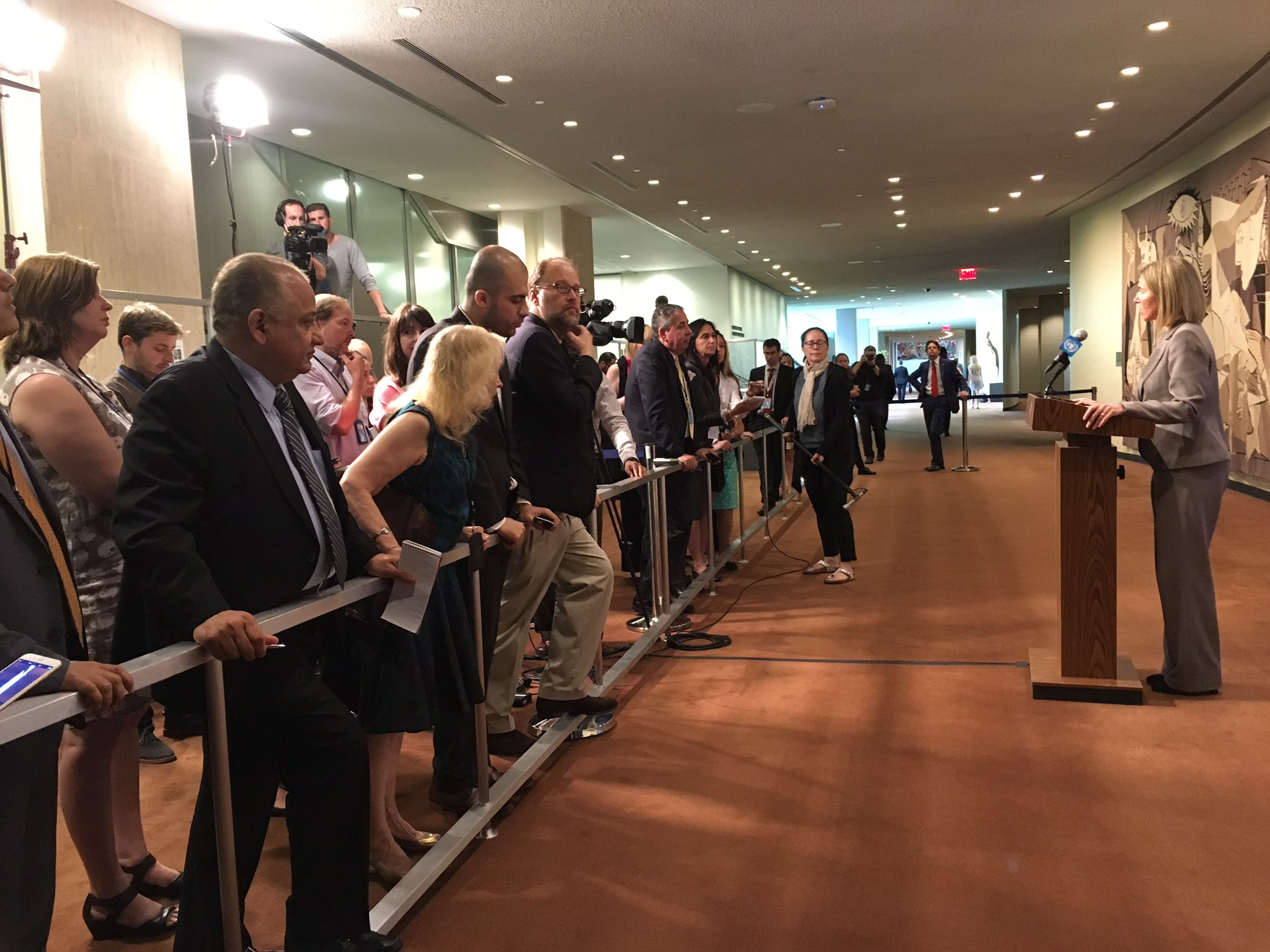 #EU HR @FedericaMog takes questions from @UN media following #UNSC briefing regional cooperation. https://t.co/WxJ0G6EH7N