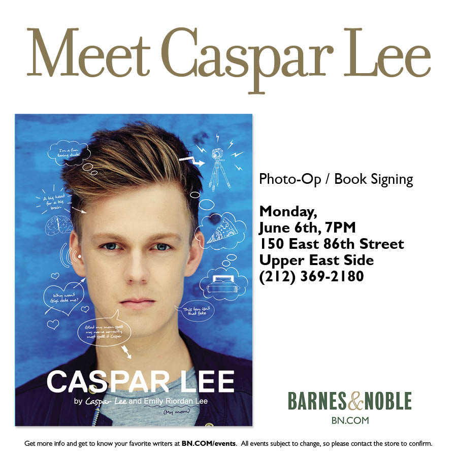 #NY meet @YouTube sensation @Caspar_Lee at @BNBuzz (UES) as he signs copies of his new book https://t.co/9EJ20V4DWZ https://t.co/28fXdkDCsj