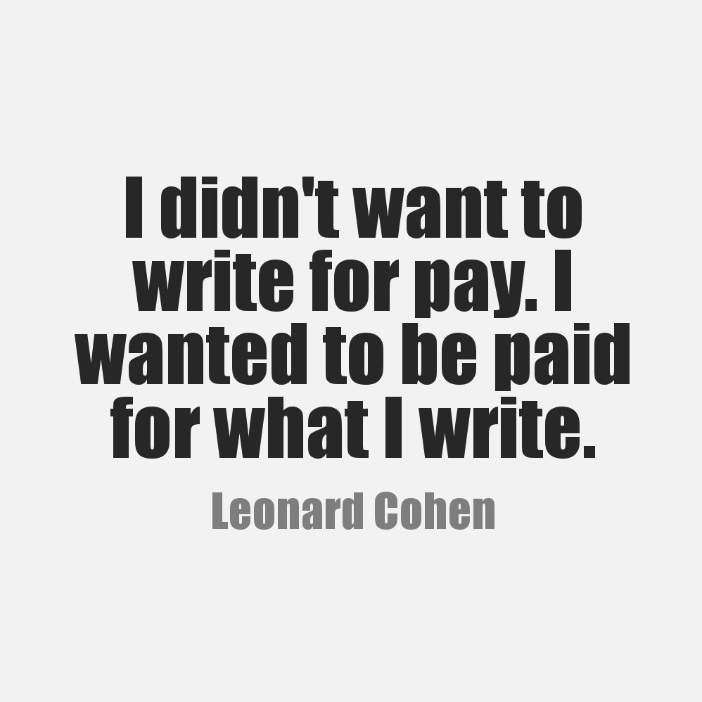 write for pay Write naked - write naked is a platform for writers to talk about their profession, including writing tips, interviews with people involved with publishing, or any publishing trends, etc your content must be 450-650 words long, for which you will get paid $75.
