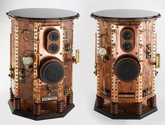 #Design Awesome of the Day: #Steampunk Empire '#Steam' #Speakers by Air Hammer Industries  via @Mad_Slug #SamaDesign