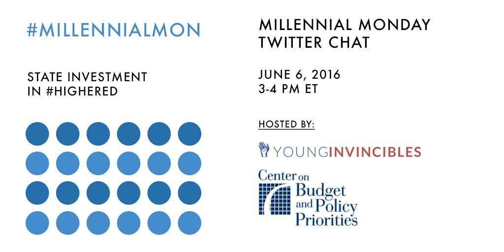 Welcome to #MillennialMon! Today's topic is the impact of state budgets in #HigherEd. https://t.co/My8zOZYUlq