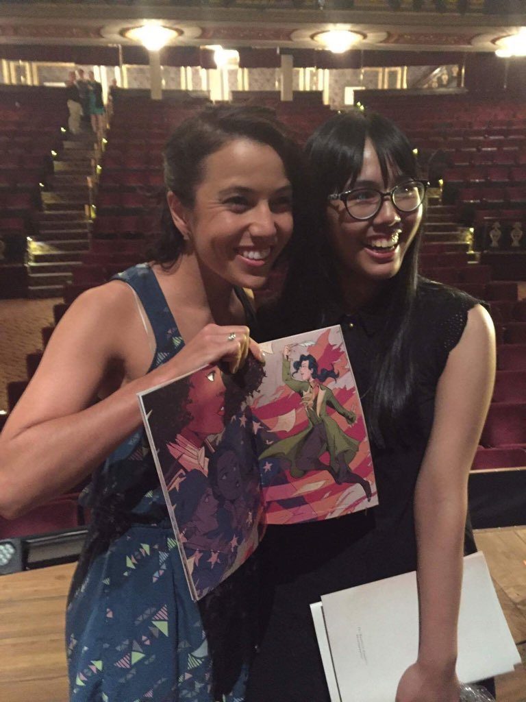 And @morgankei (who y'all know as lady Hamilton in the ladies of Hamilton Ham4Ham show was so lovely!! https://t.co/7V5oaszRHK
