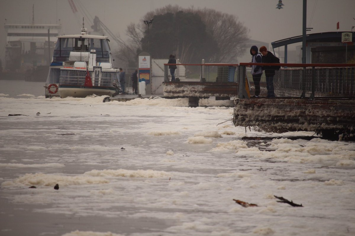 Crazy scenes on Launceston's Tamar River #tasfloods #sun7 #BigWetTas #EastCoastLow @VanessaOHanlon @LeonCompton https://t.co/QQqbTrgvuv