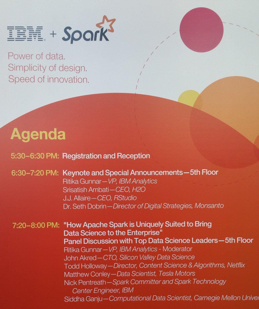 IBM Spark Maker Community Event on USTREAM: . Conference