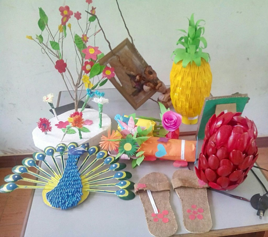 Ministry of education on twitter world environment day for Craft work from waste items