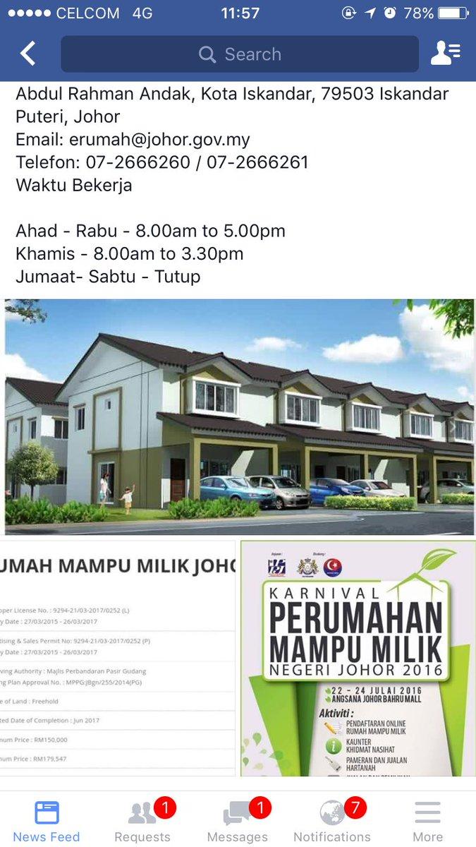 Johorevent On Twitter Daftar Rumah Mampu Milik Johor Di Plaza Angsana Pada 22 24 7 16 12 14 8 16