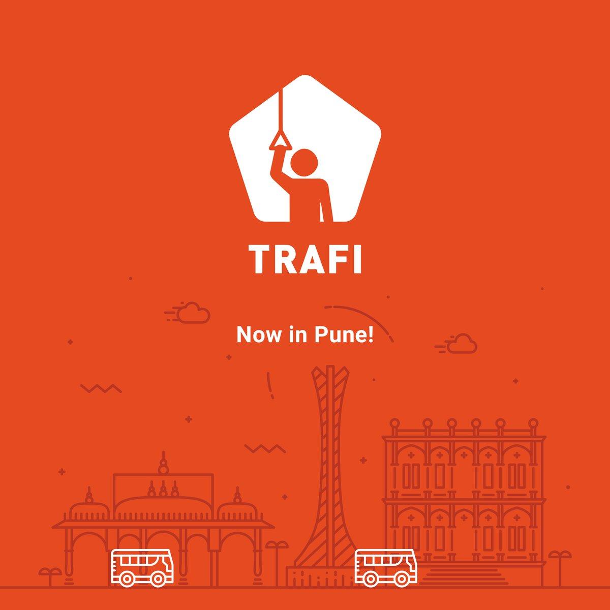 Namasthae! We are live now in PUNE, India! #Trafi #Trafiapp #app #Pune #India #publictransit https://t.co/w3pYtmAnHc