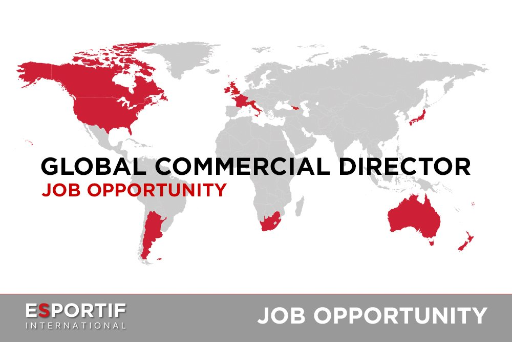 JOB OPPORTUNITY with @Esportif - Position - Global Commercial Director - for further info https://t.co/PvCbSMsQ4z https://t.co/GWdsRl9NrZ