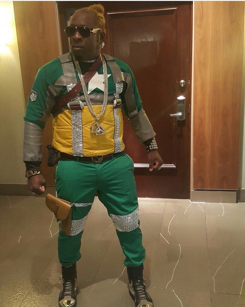ele looking like a super hero called 'mi nuh Inna no long talking' https://t.co/TM5ssYjBer