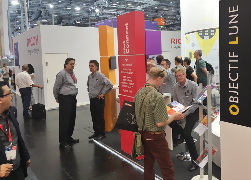 Opening at 10am sharp, and already a lot of people interested #drupa2016 https://t.co/6fjKU0Rnwa