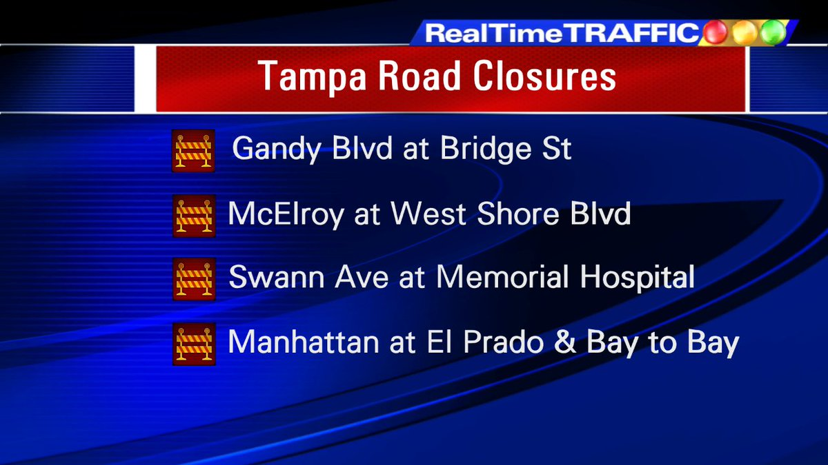 The latest from the City of Tampa  Also the Skyway and Bayshore from Bay St to Howard Ave https://t.co/pon6yLTyZf