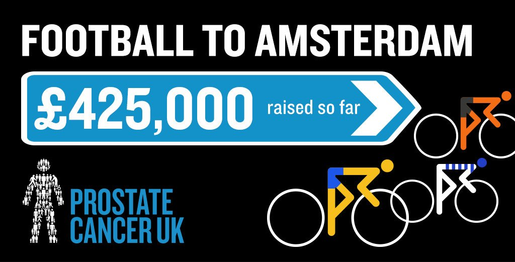 Prostate Cancer UK's 'Football to Amsterdam' Has Raised over £425k So Far