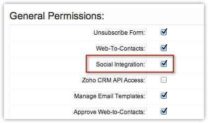 Social Integration check box