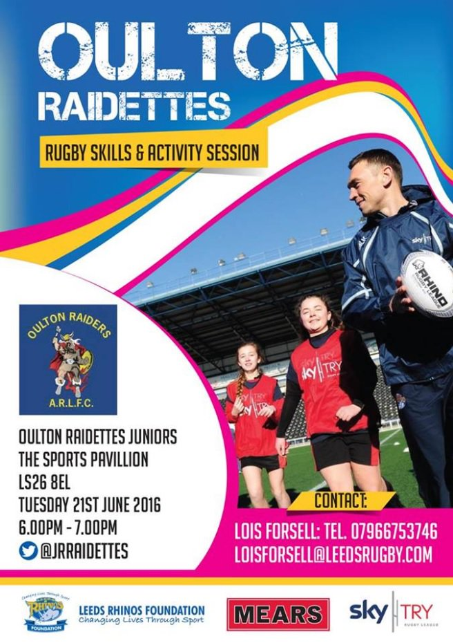 Taster night for girls rugby with Lois Forsell on 21st June, school years 6-11. All abilities & experience welcome