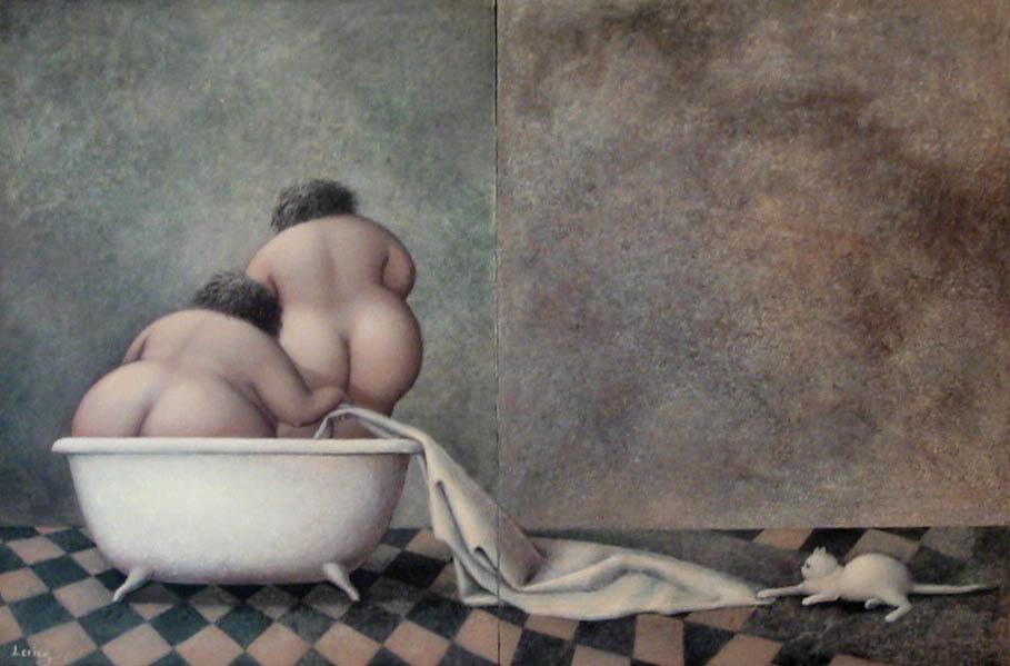 Толстушки в ванне, брюнетка и доктор бдсм