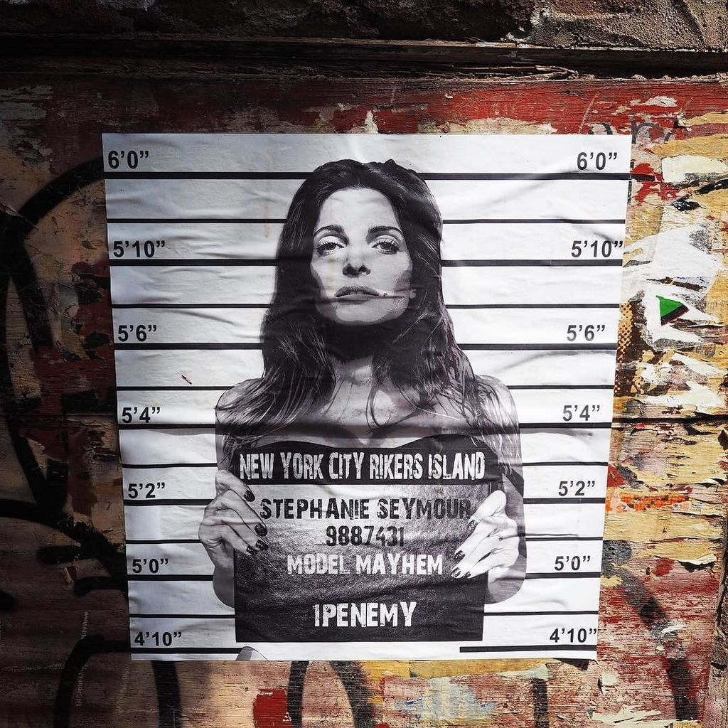 Model Mayhem #streetart #graffiti #soho #stephanieseymour #1penemy #pasteups #wheatpaste #…