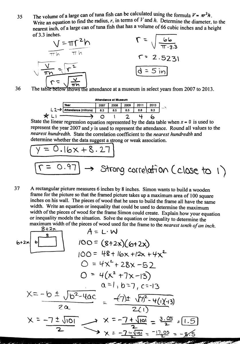 Bestseller: Algebra Regents August 2013 Answers