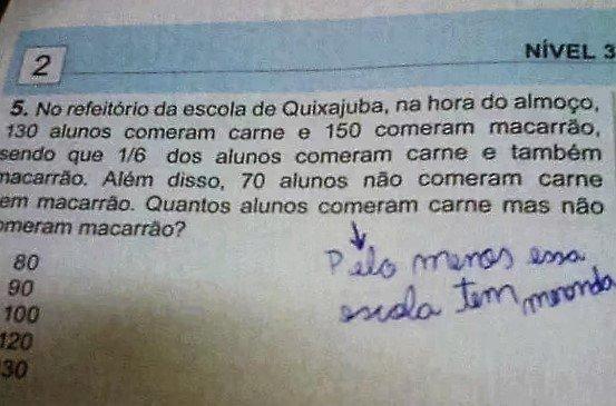 """Estudantes """"mitando"""" na 1ª fase da Olimpíada Brasileira de Matemática (OBMEP)."""