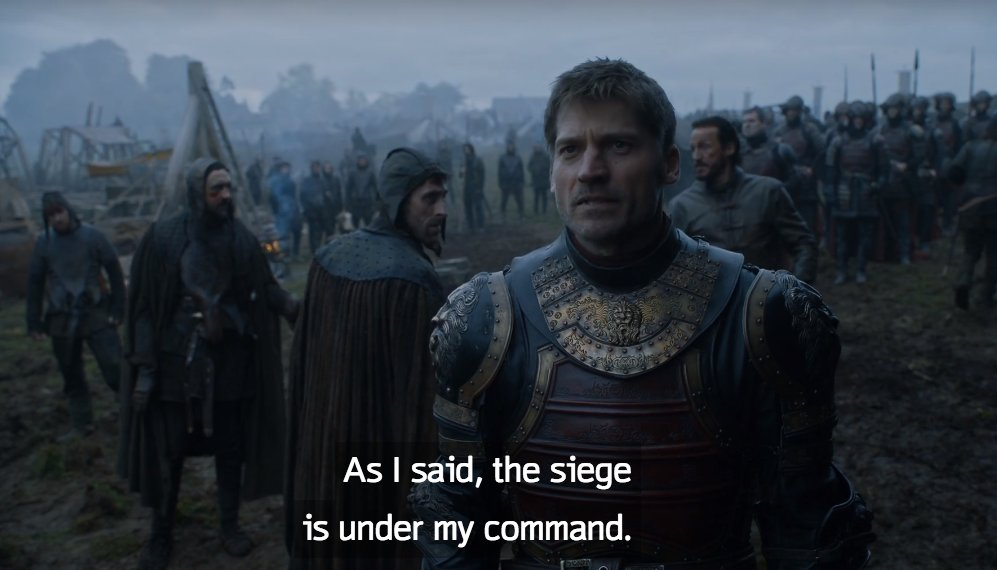 Jaime would be more impressive if those two Freys weren't the most ridiculously incompetent characters on the show. https://t.co/3lp79Lcqqs