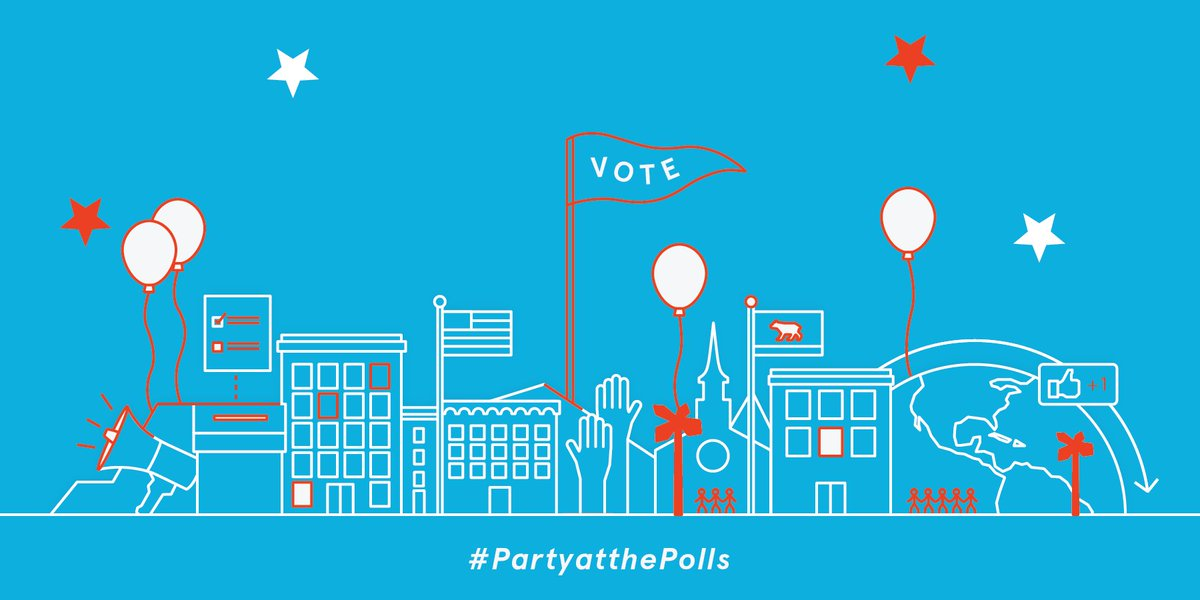 """Sport your """"I Voted"""" stickers to these election-day parties. #LAvotes #PartyAtThePolls https://t.co/J5HVZ3XgzU https://t.co/Dr4AvVY1ca"""