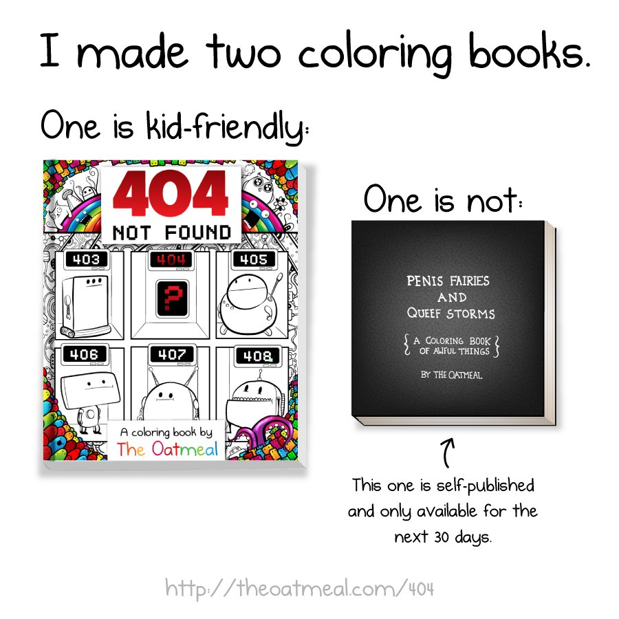 Matthew Inman On Twitter I Made Two Coloring Books I Self