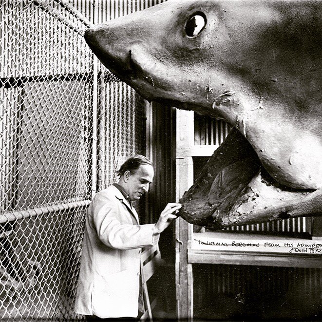 Ingmar Bergman and the shark from JAWS. https://t.co/pjX6DARgy2