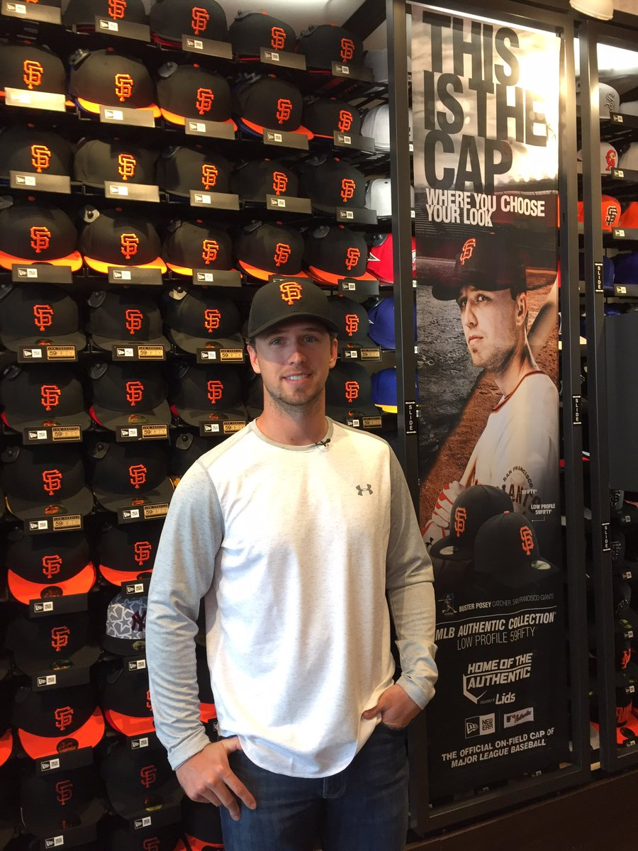 00cca9898198b Lids On Twitter Shout Out To Busterposey Hanging On Location