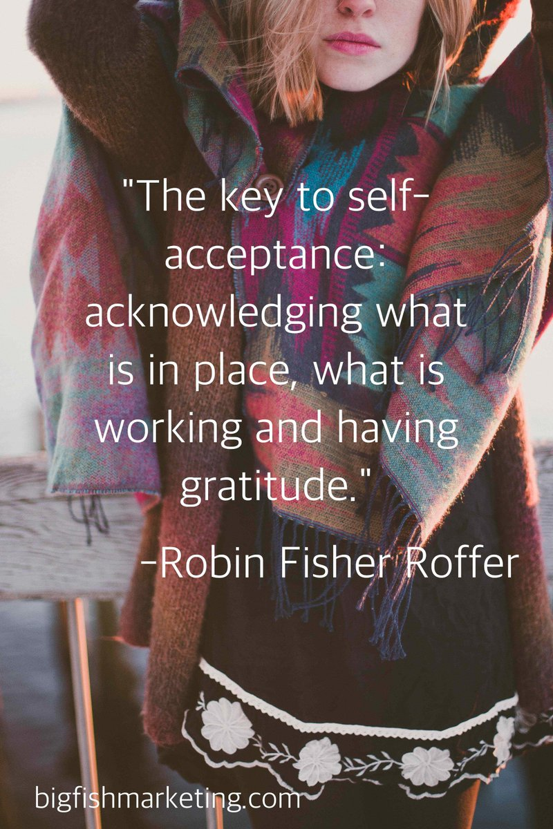 """The key to self- acceptance: acknowledging what is in place, what is working and having gratitude"" #gratitude https://t.co/BfRLExFNoD"