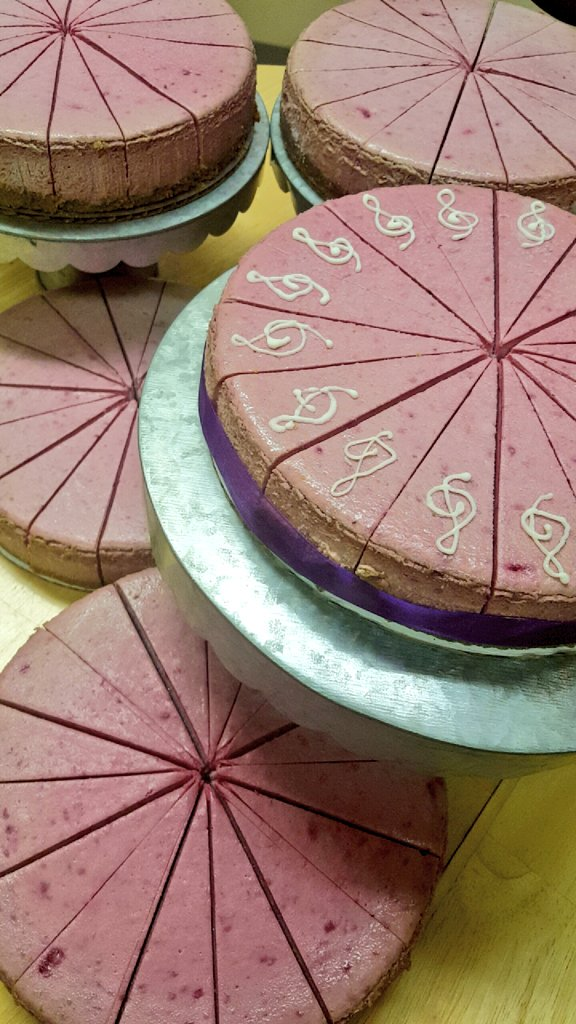Deep breath. For #PrinceBirthday, we made #RASPBERRYBERET Cheesecake. All profits from this flavor go @mnmusicco! https://t.co/wZ8Q8LFo0U
