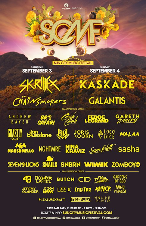 It is with great honor to announce our full #SCMF2016 lineup! #RoadToSCMF  Tickets & Info: https://t.co/91RhE8XH0J https://t.co/bfVmV8Dk31