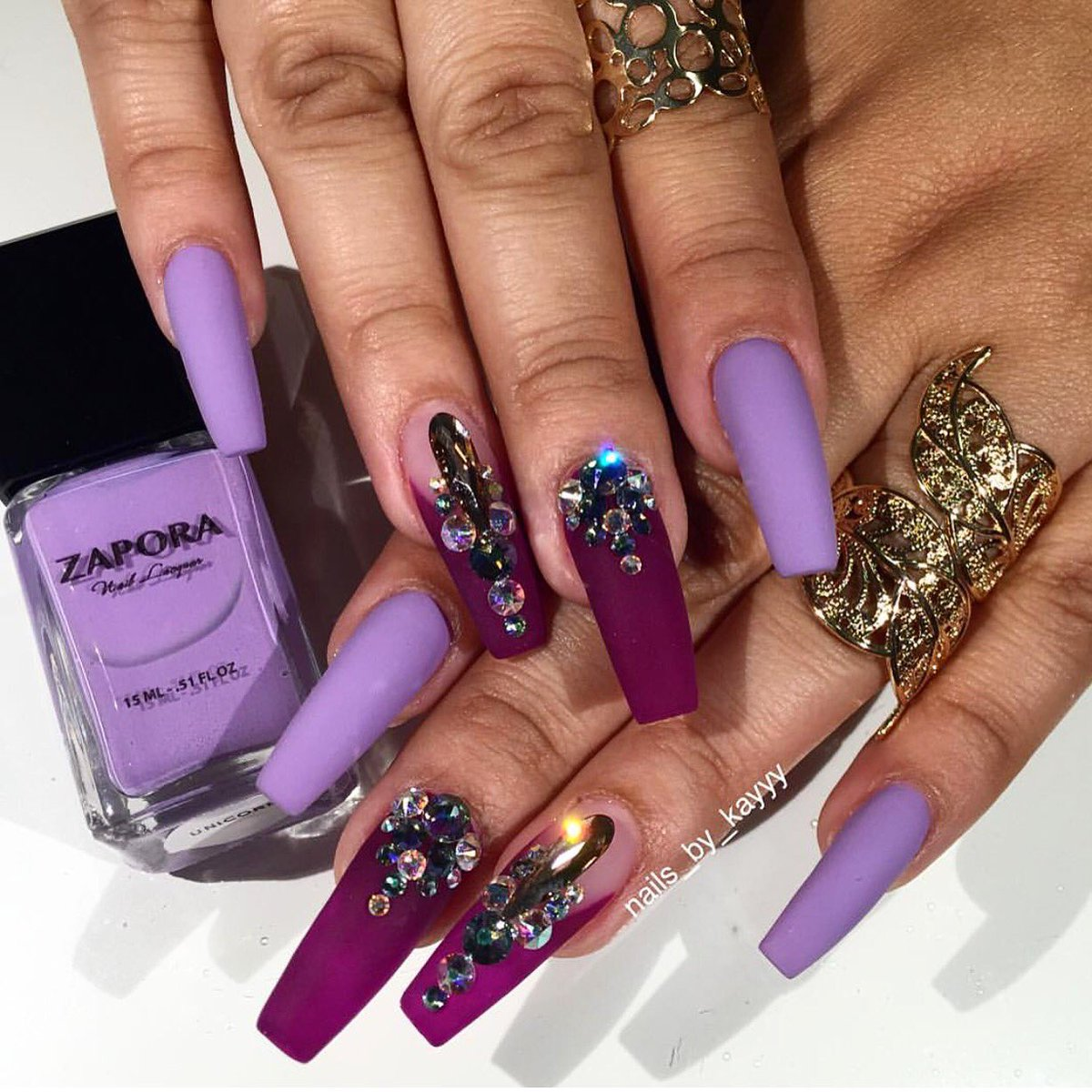 """ZAPORA Nail Lacquer On Twitter: """"💜💜💎🔮🍇 Loving This Set"""