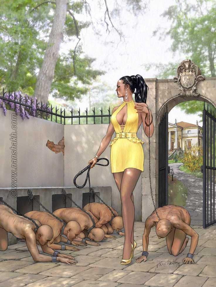 Female domination picture over men