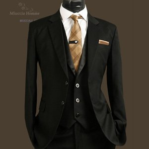 5ea513dce2c06 ... #suits #ties #pocket squares #Gold #pockets #three piece suits ...